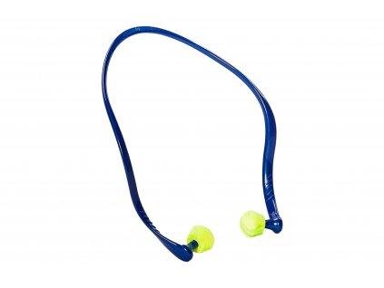 špunty do uší waveband proti hluku s ramínkem modro-zelené