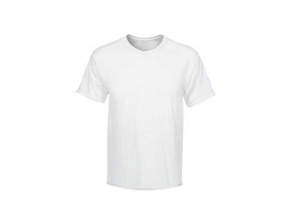 bílé pracovní tričko z bavlny s krátkým rukávem