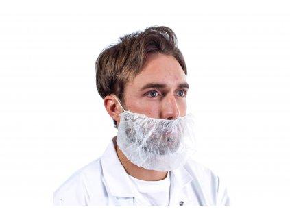 muž s ochrannou maskou na vousech