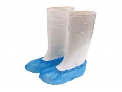 modré ochranné jednorázové návleky na obuv