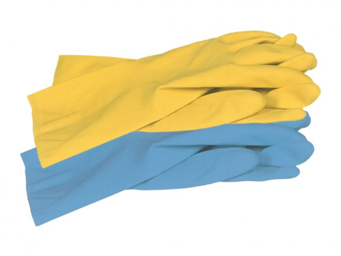 allsafe blue yellow unigloves uklidove rukavice