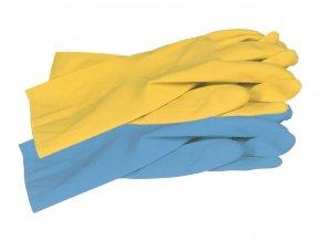 allsafe blue yellow unigloves uklidove rukavice
