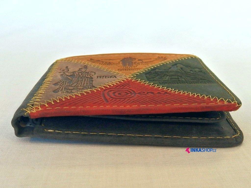 Kvalitní kožená peněženka PERU