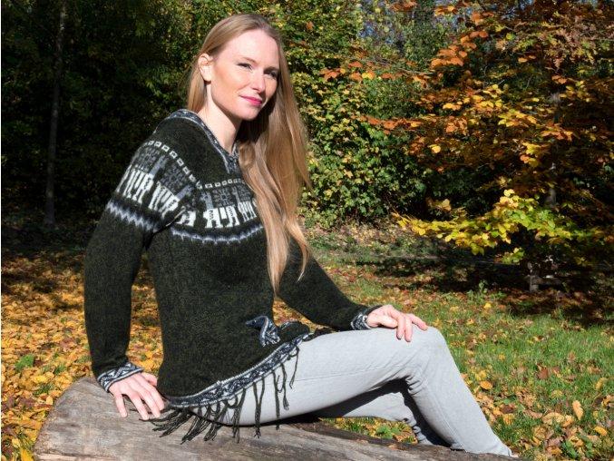 Dámský svetr s vlnou alpaky