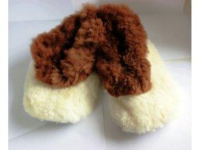 Papuče z vlny alpaky