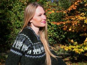 Dámský/dívčí svetr s vlnou alpaky