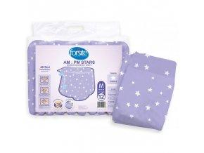 paquet 12 de changes taille m forsite am pm stars