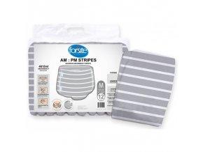 paquet 12 de changes taille m forsite am pm stripes