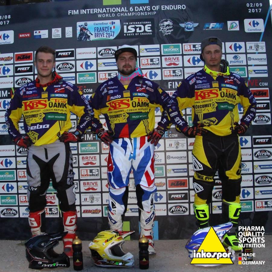 Marek Borák, Jakub Hroneš a Martin Kulhánek obsadila na letošním International Six Days Enduro, ISDE 9. místo a v Motorex challange skončili na bedně!