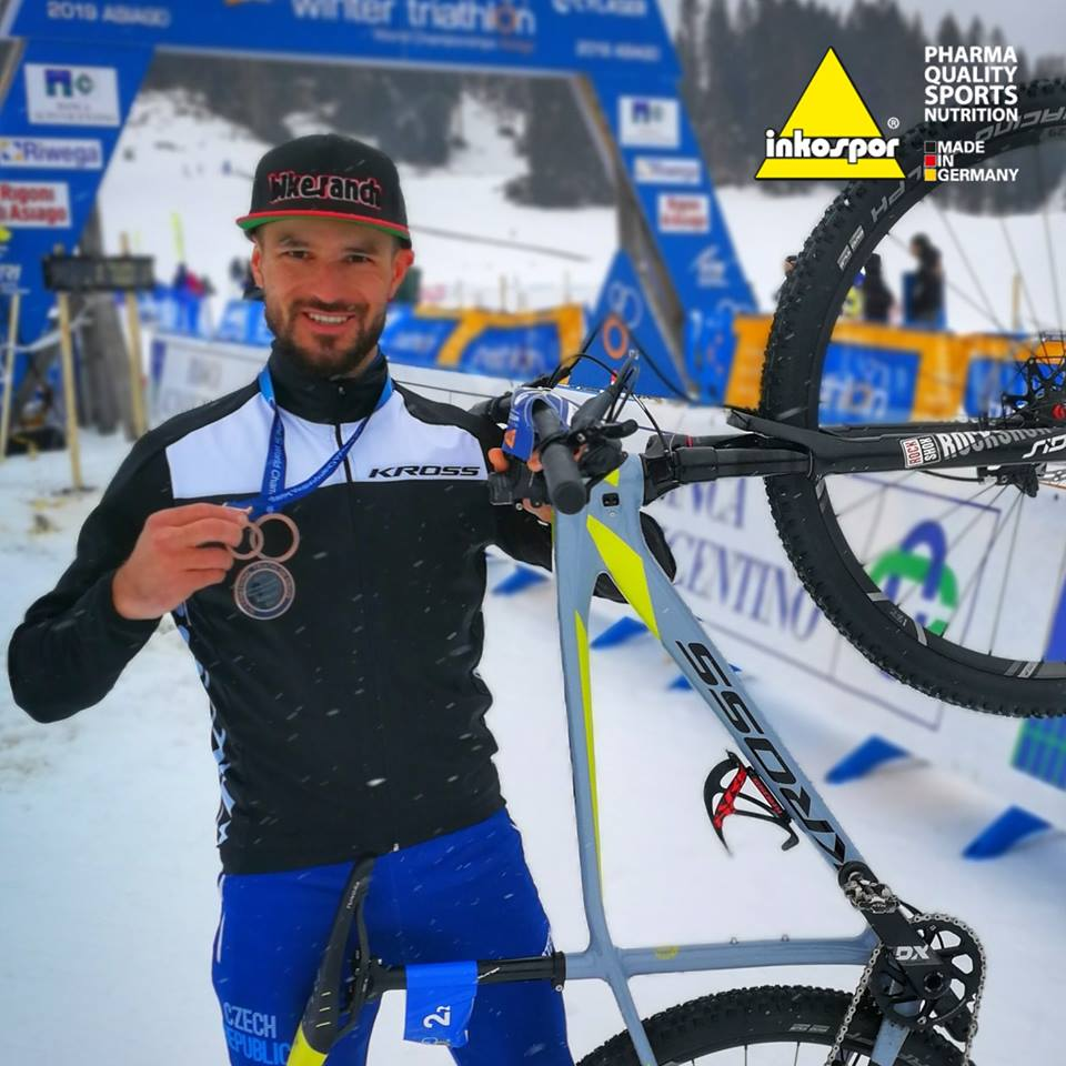 Marek Rauchfuss třetí na MS v zimním triatlonu