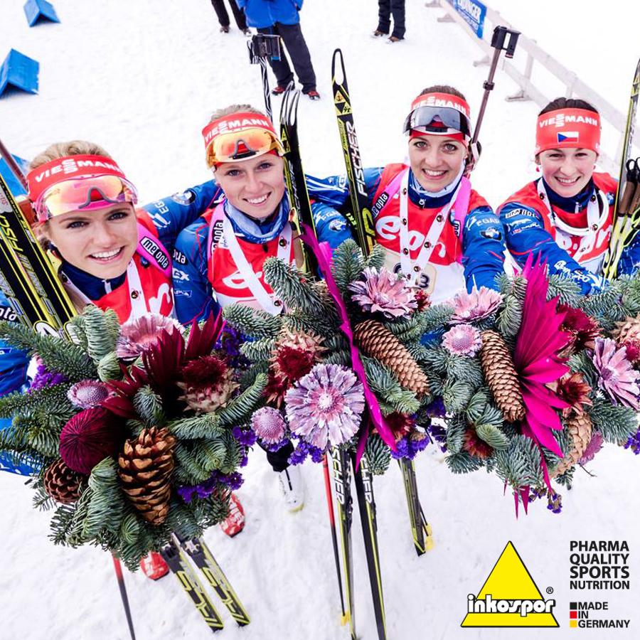 Gabriela Koukalova, Eva Puskarčíková, Veronika Vítková a Jitka Landová mají olympijský bronz!
