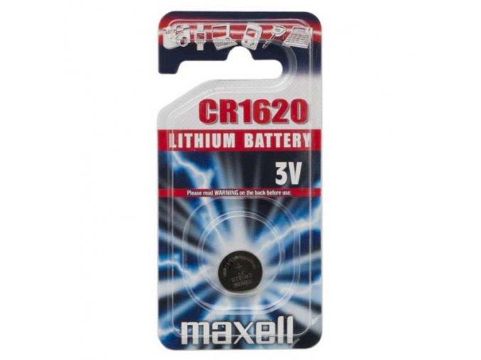 Baterie lithiová, konflíková, CR1620, 3V, Maxell, blistr, 1-pack