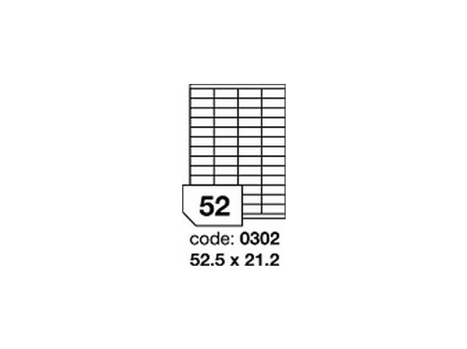 Etiketa 52.5x21.2 mm inkjet/laser/copy