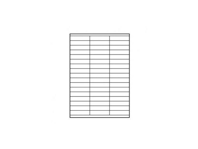 Logo etikety 70mm x 16.9mm, A4, matné, bílé, 51 etiketa, 140g/m2, baleno po 10 ks, pro inkoustové a laserové tiskárny