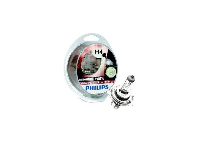 Philips H4 VisionPlus 12V 12342VPS2 +60% 12342VPS2