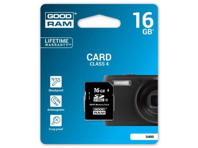 Goodram Secure Digital Card, 16GB, SDHC, S400-0160R11, Class 4