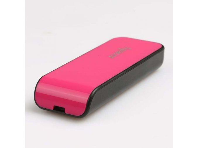 Apacer USB flash disk, USB 2.0, 16GB, AH334, růžový, AP16GAH334P-1, USB A, s výsuvným konektorem