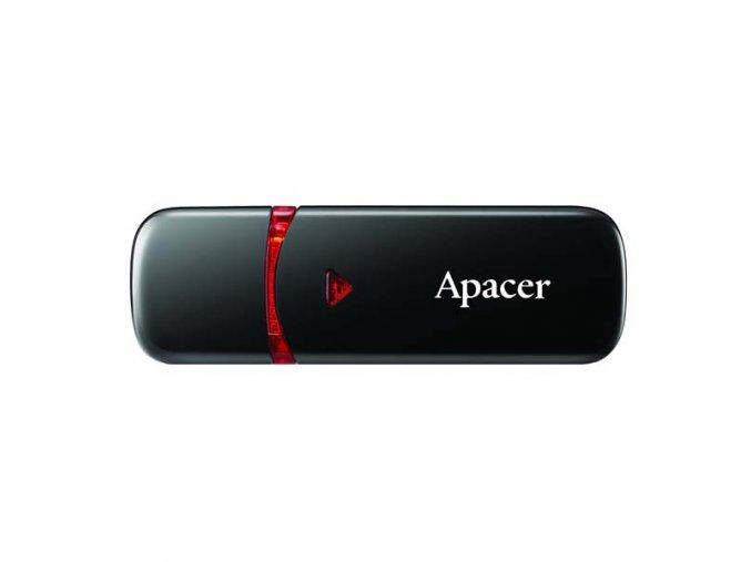Apacer USB flash disk, USB 2.0, 16GB, AH333, černý, AP16GAH333B-1, USB A, s krytkou