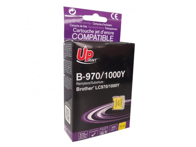 UPrint kompatibilní ink s LC-1000Y, yellow, 10ml, B-970Y, pro Brother DCP-330C, 540CN, 130C, MFC-240C, 440CN