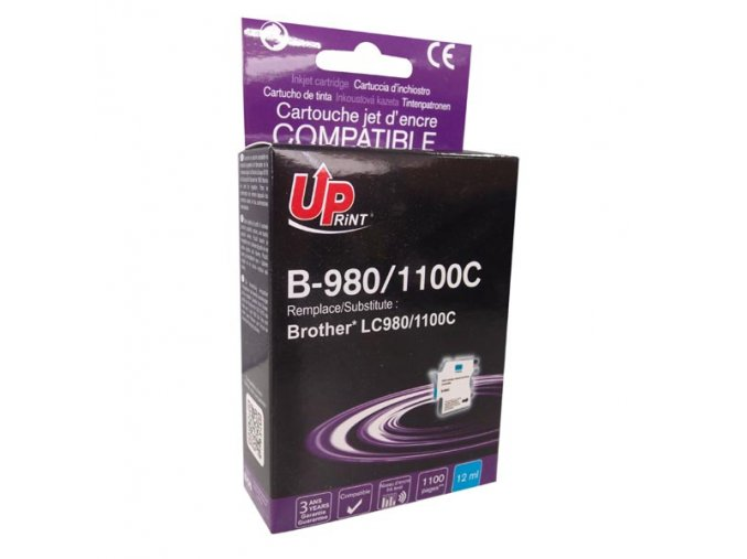 UPrint kompatibilní ink s LC-980C, cyan, 12ml, B-980C, pro Brother DCP-145C, 165C