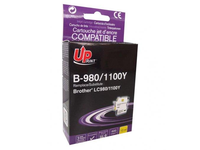 UPrint kompatibilní ink s LC-980Y, yellow, 12ml, B-980Y, pro Brother DCP-145C, 165C