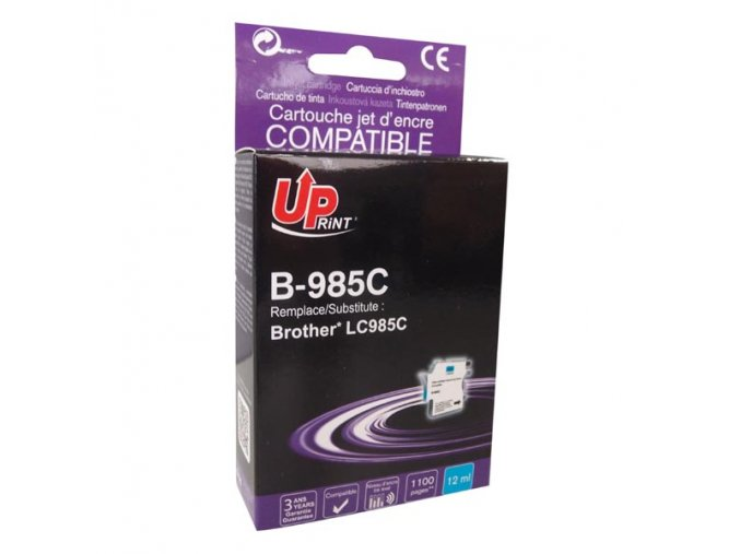 UPrint kompatibilní ink s LC-985C, cyan, 12ml, B-985C, pro Brother DCP-J315W