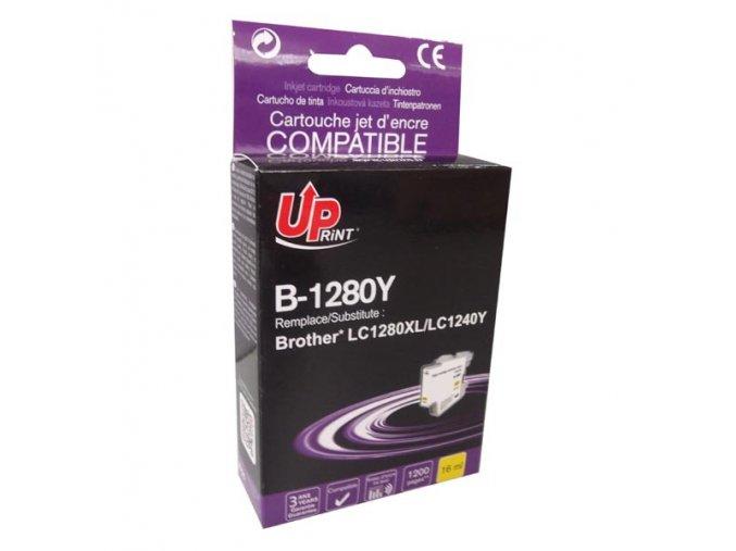 UPrint kompatibilní ink s LC-1280XLY, yellow, 1200str., 12ml, B-1280Y, high capacity, pro Brother MFC-J6910DW