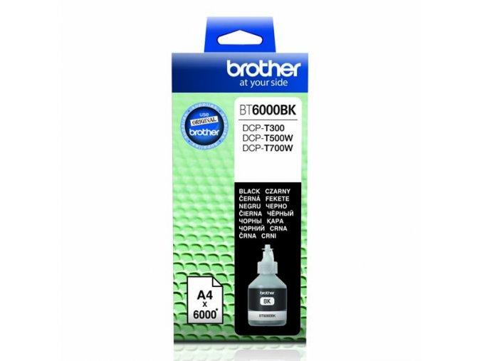 Brother originální ink BT-6000BK, black, 6000str., Brother DCP T300, DCP T500W, DCP T700W