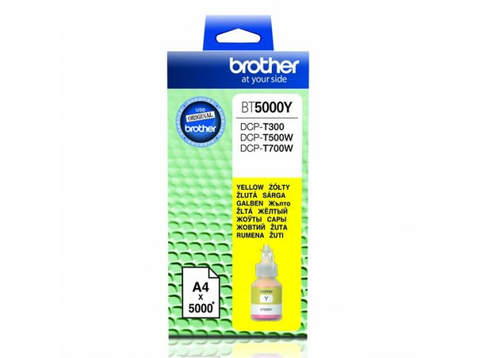 Brother originální ink BT-5000Y, yellow, 5000str., Brother DCP T300, DCP T500W, DCP T700W