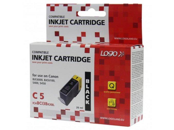 Logo kompatibilní ink s BCI3eBK, black, 26ml, pro Canon BJ-C6000, 6100, S400, 450, C100, MP700