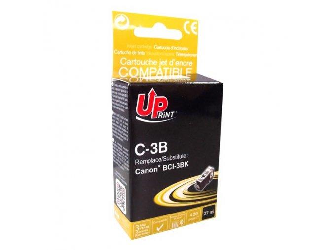 UPrint kompatibilní ink s BCI3eBK, black, 420str., 27ml, C-3B, pro Canon BCI3eBK - pro BJC6000, 6100, 6200, S400, 450