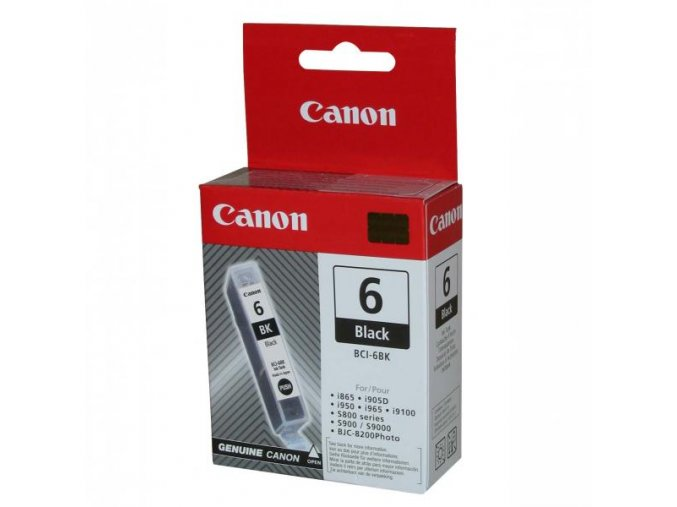 Canon originální ink BCI6BK, black, 280str., 13 4705A002, Canon S800, 820, 820D, 830D, 900, 9000, i950