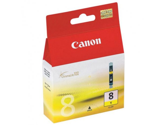 Canon originální ink CLI8Y, yellow, 490str., 13ml, 0623B001, Canon iP4200, iP5200, iP5200R, MP500, MP800