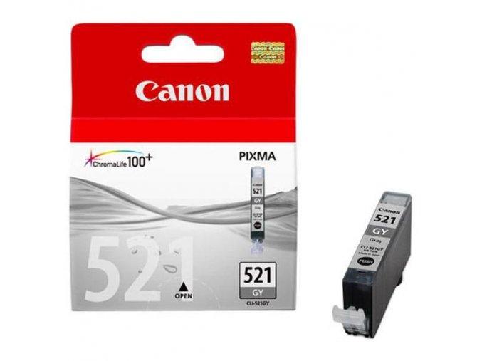 Canon originální ink CLI521GY, grey, 1395str., 9ml, 2937B001, Canon MP980