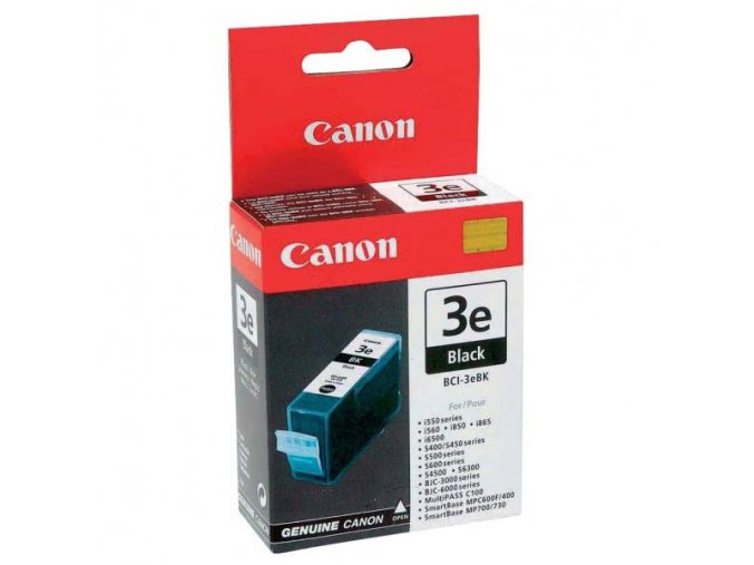 Canon originální ink BCI3eBK, black, blistr s ochranou, 500str., 27ml, 4479A297, 4479A277, Canon BJ-C6000, 6100, 6200, S400, 450