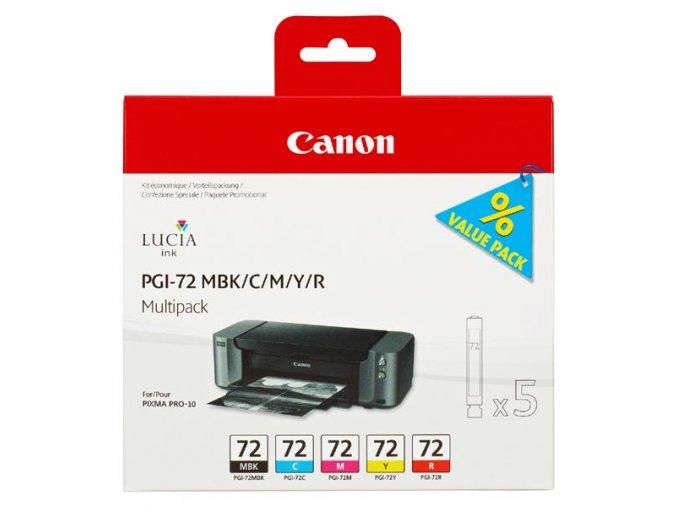 Canon originální ink PGI72 CMYK, CMYK, 6402B009, Canon PIXMA Pro-10