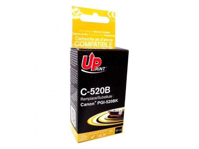 UPrint kompatibilní ink s PGI520BK, black, 20ml, C-520B, s čipem, pro Canon iP3600, 4600, MP620, 630, 980