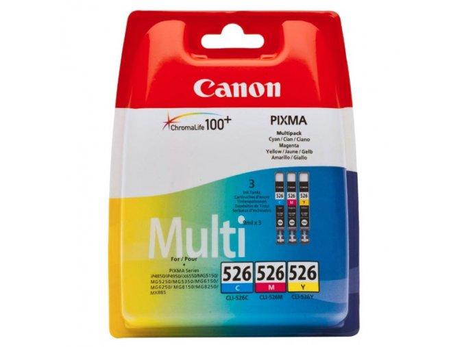 Canon originální ink CLI526 CMY, cyan/magenta/yellow, 340str., 3x9ml, 4541B009, 4541B006, Canon 3-pack Pixma  MG5150, MG5250, MG61