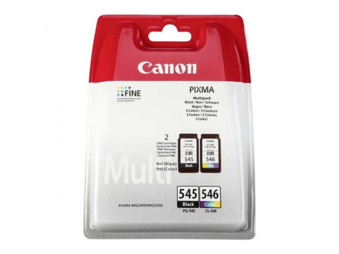 Canon originální ink PG-545/CL-546, black/color, blistr, 2x180str., 1x8, 1x9ml, 8287B005, Canon 2-pack Pixma MG2450, 2550,iP2850