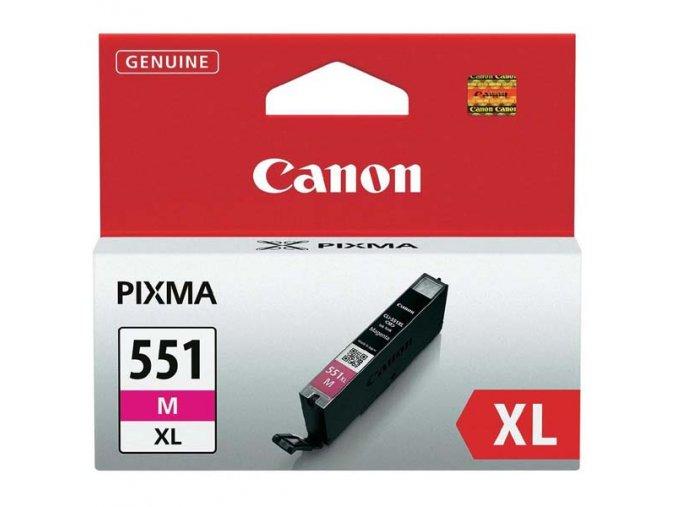 Canon originální ink CLI551M XL, magenta, 11ml, 6445B001, high capacity, Canon PIXMA iP7250, MG5450, MG6350, MG7550
