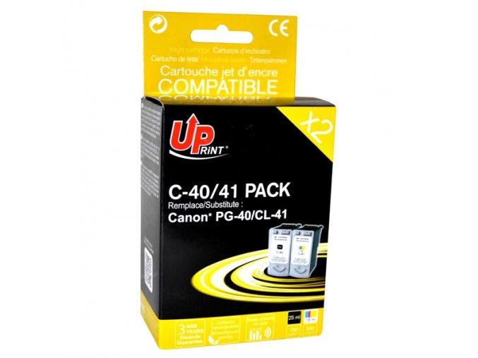 UPrint kompatibilní ink s PG40+CL41, black/color, 25+3x18ml, C-40/41 PACK, pro Canon iP1600, 2200, MP150, 170, 450