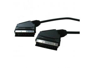 Kabel Scart M- Scart M, SCART, 1m, černá, Logo