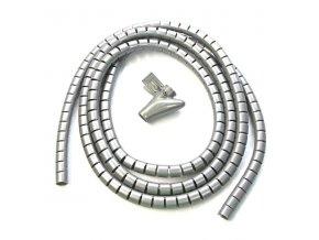 Svazkovací spirála, 15-50mm, stříbrná, 2.5m, (15mm pr.)