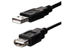 Kabel USB (2.0), USB A M- USB A F, 1.8m, černý, Logo Economy