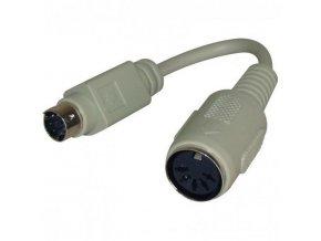 Klávesnice Redukce, PS/2 M-5 pin F, 0.09, černá, Logo, s kabelem