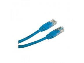 UTP patchcord, Cat.5e, RJ45 M-1m, nestíněný, modrý, economy