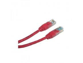 UTP patchcord, Cat.5e, RJ45 M-1m, nestíněný, červený, economy