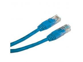 UTP patchcord, Cat.5e, RJ45 M-0.25m, nestíněný, modrý, economy