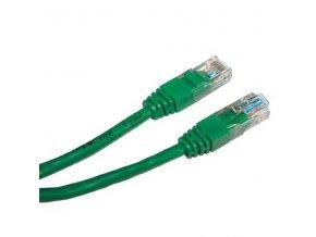 UTP patchcord, Cat.5e, RJ45 M-0.25m, nestíněný, zelený, economy
