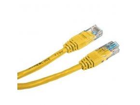 UTP patchcord, Cat.5e, RJ45 M-0.25m, nestíněný, žlutý, economy